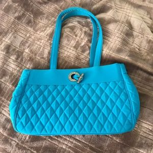 Vera Bradley - teal microfiber purse
